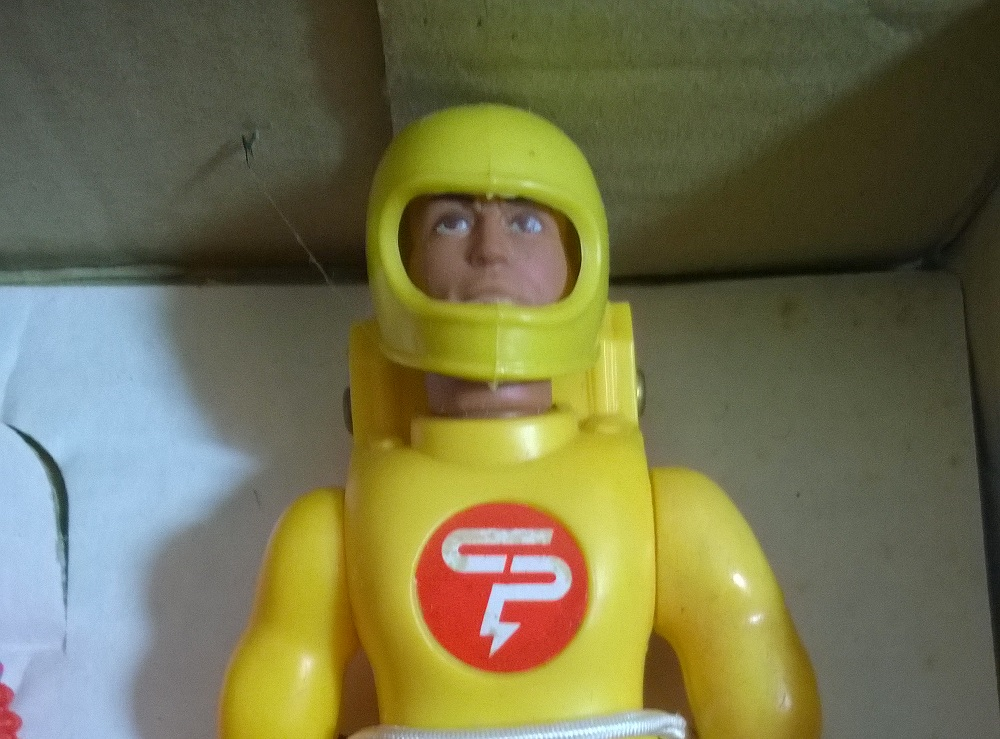 Powerarm with Mike Zoom and his Speedbike toy set Palitoy