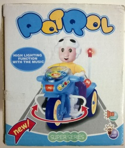 Patrol motorcycle Super Series toy light sound music retro 70s